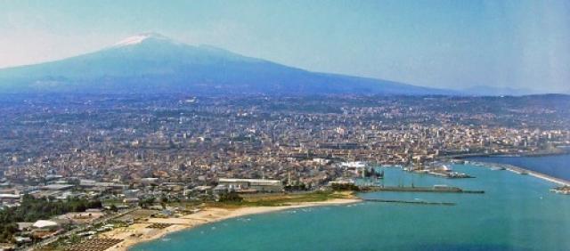 Veduta aerea di Catania
